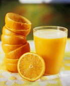 Vitamin C is a proven mood elevator, besides its many other benefits.