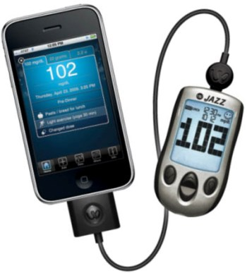 AgaMatrix Jazz Meter allows you to monitor your blood glucose with your iPhone.