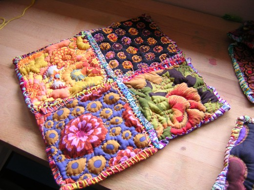Sew pillows together in panels.