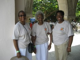 One of the oldest living relatives, my aunt Anna,and her daughters,  Anna, and Doris. The Florida reunion
