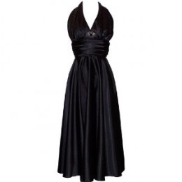 Marilyn Monroe prom dress in elegant black. More color choices available!