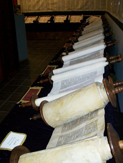 The TaNaKh separated into individual Scrolls