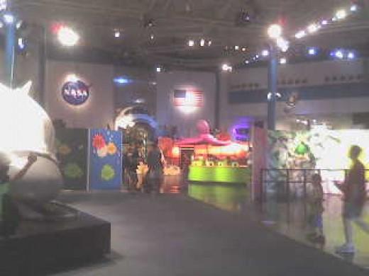 Entrance to NASA's public showroom