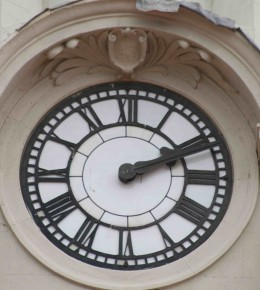 The famous swastika can be seen just above the XII of the clock (if you look hard!). Photo by Tony McGregor