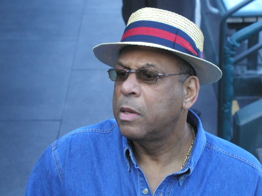 Orlando Cepeda...can be seen around the park along with Willie McCovey and Willie Mays