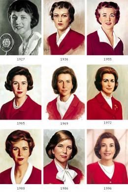 Betty Crocker through the years.