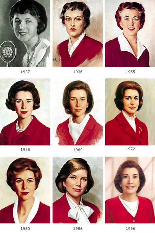 Betty Crocker through the years.