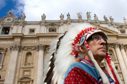 Pope Benedict XVI made a formal apology for the treatment of the First Nations children in the residential school system.