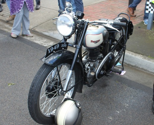 1949 Triumph 'Panther' 100.  I could not find the owner to ask. If someone knows better leave a comment and I will edit the title!