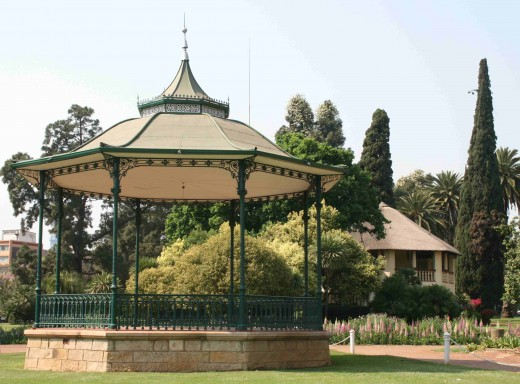 The cast iron bandstand