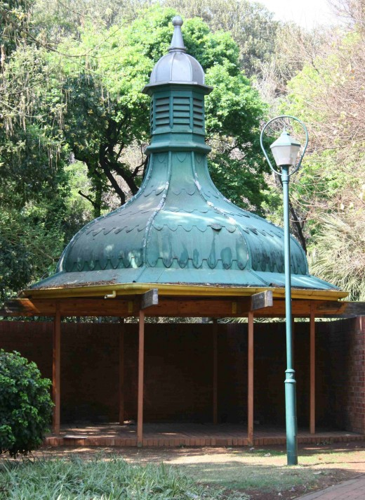 The gazebo near the park keeper's house