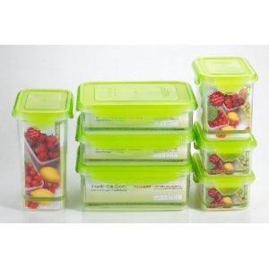 Kinetic Go Green Premium Nano Silver 7 Piece Food Storage Container Set