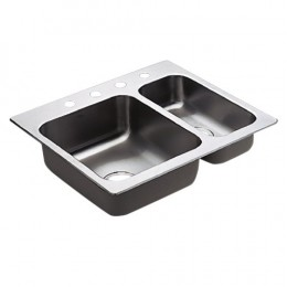 Moen Double Basin Stainless Steel Kitchen Sink