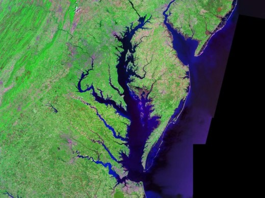 Image: NASA. Chesapeake Bay Watershed View