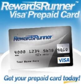 Rewards Runner Prepaid Debit Card