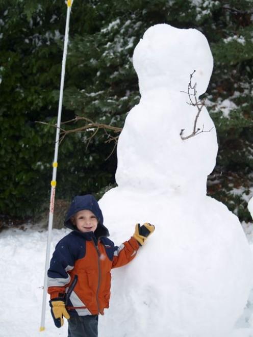 One huge snowman!