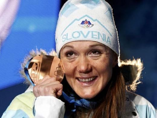 Petra Majdic - bronze medal