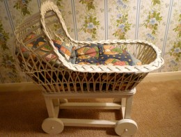 Old wicker carriage that has been in the family for generations