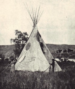 In the Comfort of a Plains-Indian Tepee