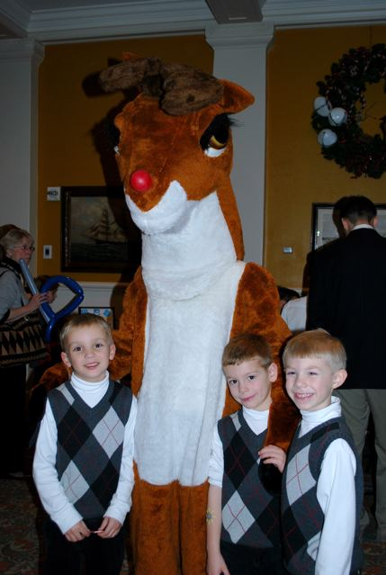 Cousins and Rudolph!