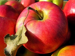 Title: Apple with Leaf - Attribution License:everystockphoto.com - Photographer: x-eyedblonde