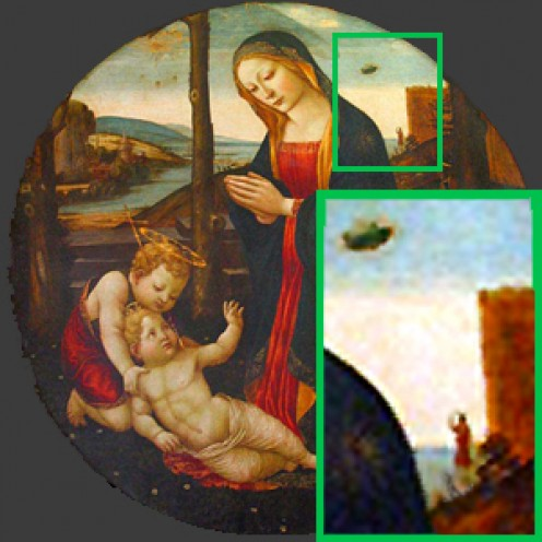 UFO Sighting in Madonna Painting