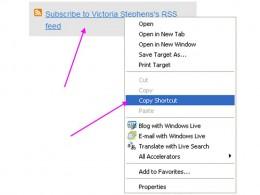 Right click and 'copy shortcut'  or 'copy link'