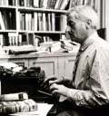 William Faulkner at work (or at least posing like he is).  He famously claimed he wrote some of his best novels in a matter of weeks in one draft.  After research, this claim is not as exaggerated as I first thought.