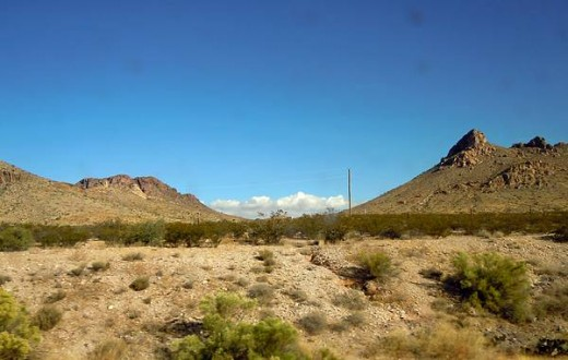 A view after we crossed into Arizona.