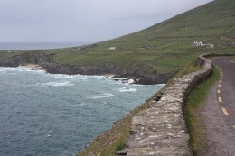The route taken through the twisty roads from County Kerry to neighboring County Cork. Shown here is the Dingle Peninsula (still in Kerry).