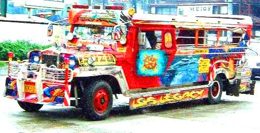 Example of a Jeepney. The product of creativity and innovation of the Filipinos.