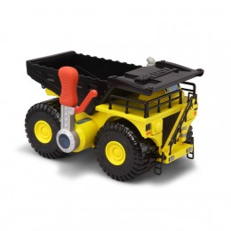 Tonka Strong Arms Dump Truck features a lever on the passenger size that allows children to dump sand or dirt by pushing the handle down.