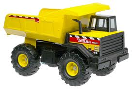 The original Tonka Dump Truck - The Classic Tonka Dump Truck is the grand daddy that started the spin off of other popular versions. The Classic is known for its black and yellow color scheme, large dump bed, and over sized rugged tires.