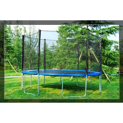 Buy this great trampoline at huge discounts. It comes with all of the safety enclosure items needed so that you won't have to buy them separately. It's a combo deal at a very low price!