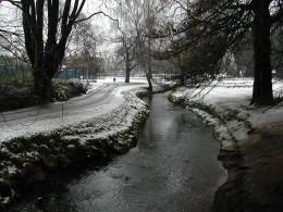Roath Park in winter