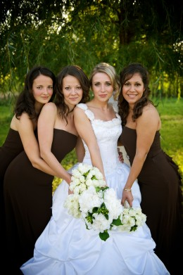 Beautiful brown bridesmaid dresses