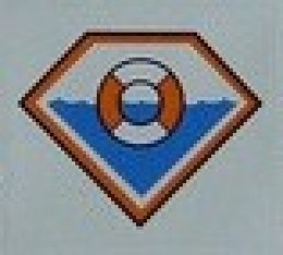 The Lego Coast Guard logo used from 2003 onward.
