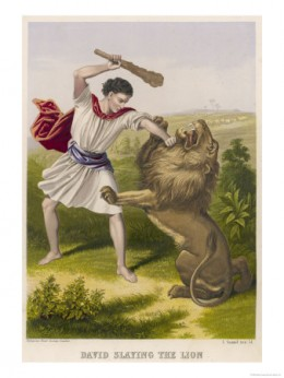 David slays the Lion