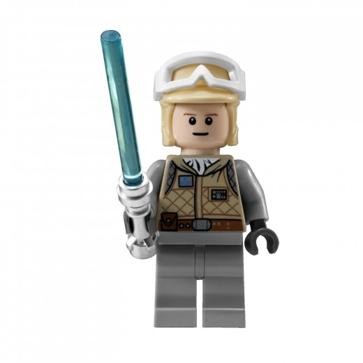 LEGO Star Wars: 8089 Hoth Wampa Cave - Luke Skywalker in the new Hoth 2010 Rebel Trooper attire