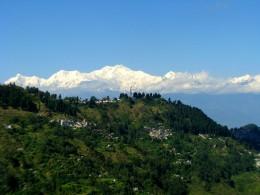 The Kanchenjunga mountain range, from  Darjeeling