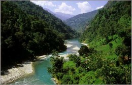 Valley in Sikkim, India. Formerly a mountain kingdom close to Bhutan.