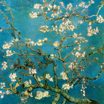 """Almond Branches In Bloom- San Remy"" - 1890 - Vincent Van Gogh"