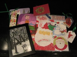Old greeting cards can be used for many different crafts, not just placemats.