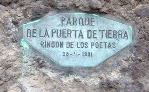Sign in the park in Garachico