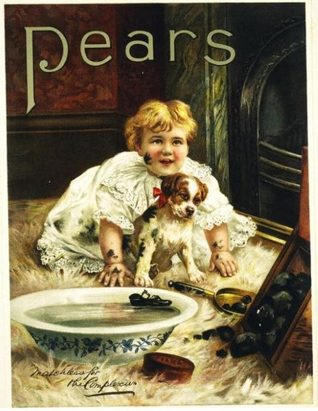 An antique image, for an advertisement for soap. I thought it was so cute.