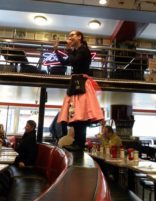 Ellen's Stardust Diner in New York City