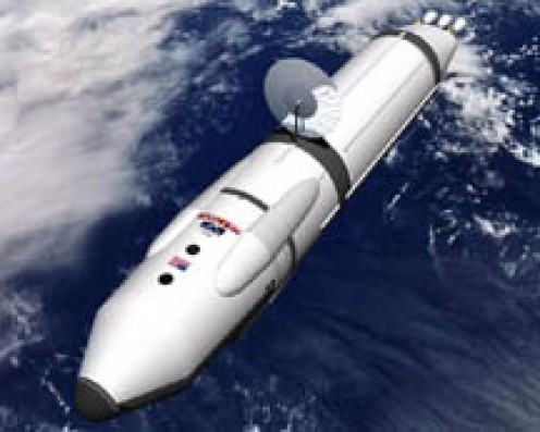 Positron reactor powered spaceship