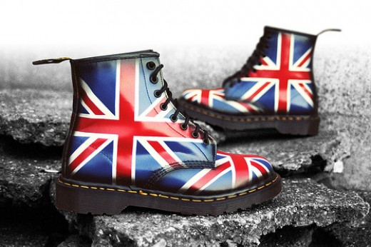 Dr Martens sporting the Union Jack.