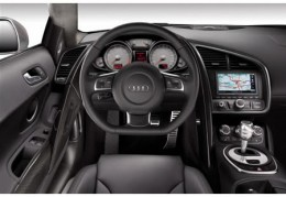 This is the driver's side of the cockpit in the Audi R8