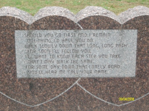 I love reading some of the wonderful things people put on the headstones